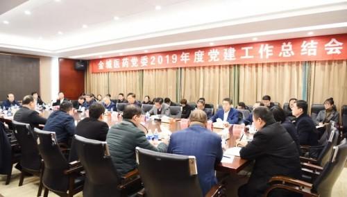 金城医药党委召开2019年度党建工作总结会